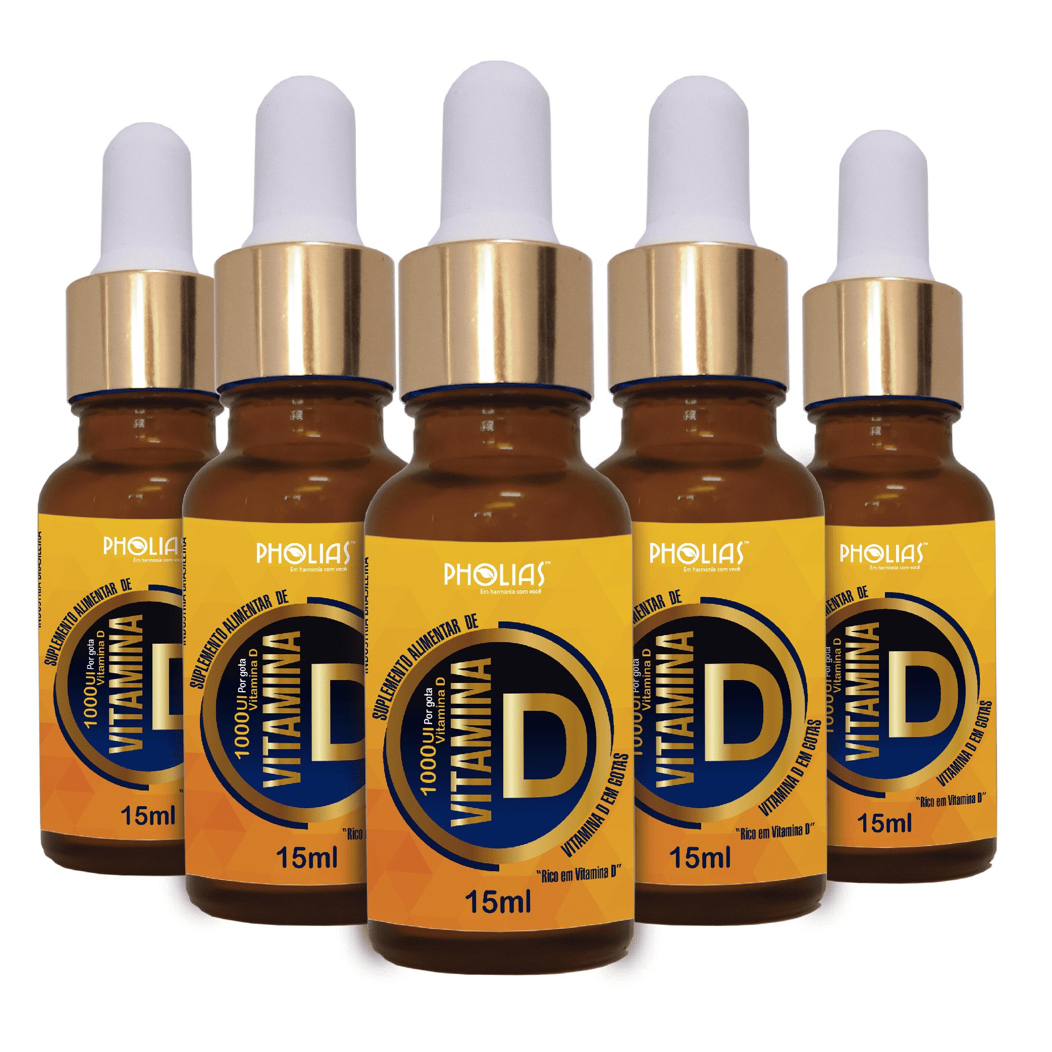 Vitamina D em gotas Pholias